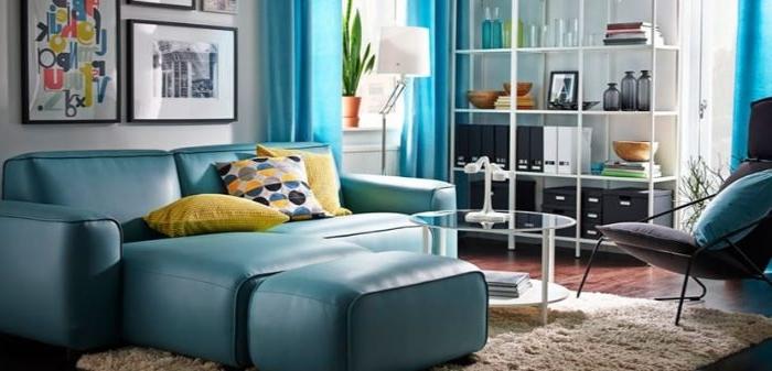 petrol farbe bedeutung, sofa blau grün, deko ideen, regal, wandbilder deko ideen sofa