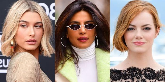 haarfarben trends, ideen zum entlehnen, blond, braun, rot, priyanka chopra, hailey