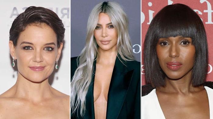 haarfarben trends 2020, trend inspiration, drei fotos auf einmal in einer collage