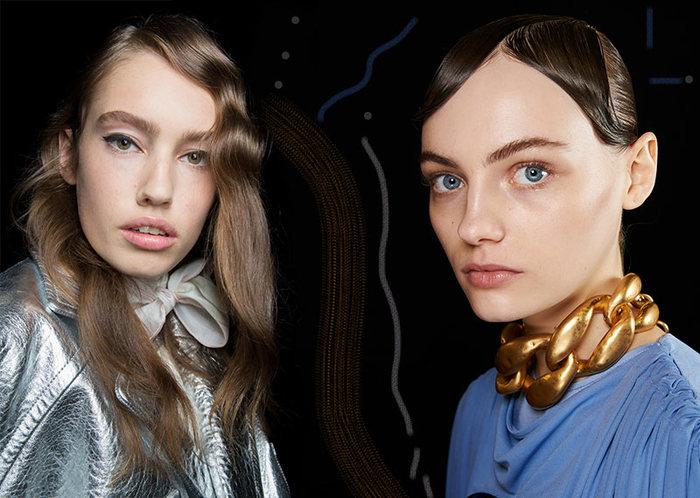 haarschnitt 2019, lange haare für natürliche brünetten, schöne mode trends für haare und schmuck