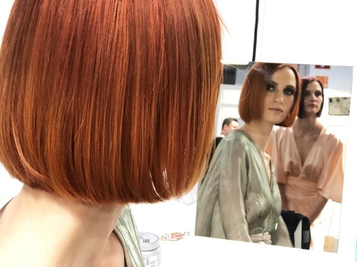 haartrends 2019, mittellanges haar, rote haare, kurze bob frisur, ronze farbe