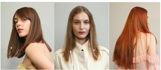 strähnchen 2020, collage mit drei fotos von frauen mit trendy haarfarben, natürliche haare