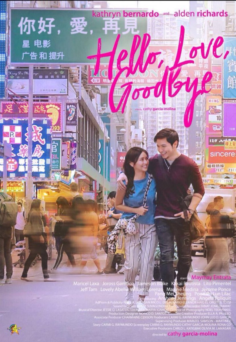 Hallo, Love, Goodbye Joy und Ethan gehen durch Hongkong auf dem Poster Hello, Love, Goodbye