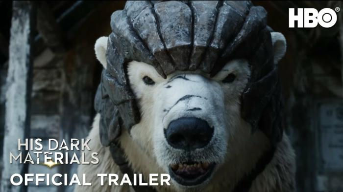 ein Eisbär mit Rüstung ist ein Freund von Lyra von His Dark Materials