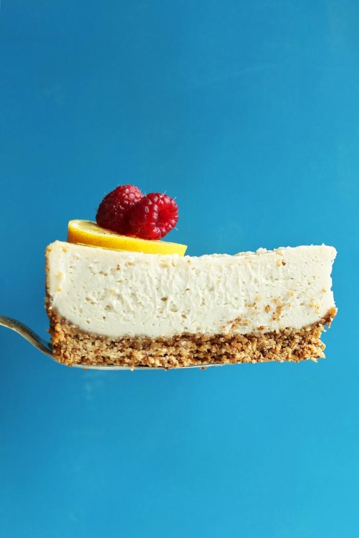 käsekuchen ohne backen, philadelphia kuchen mit zitronen und himbeeren, cheesecake rezept