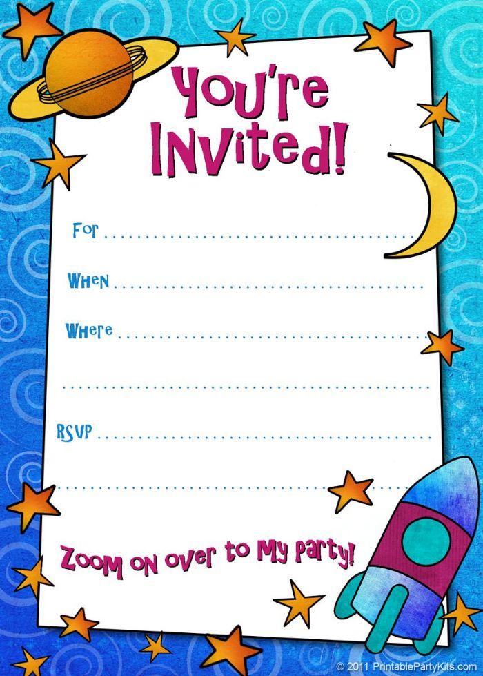 einladung kindergeburtstag basteln, planeten oder astronomie party für begeisterte kleine wissenschaftler