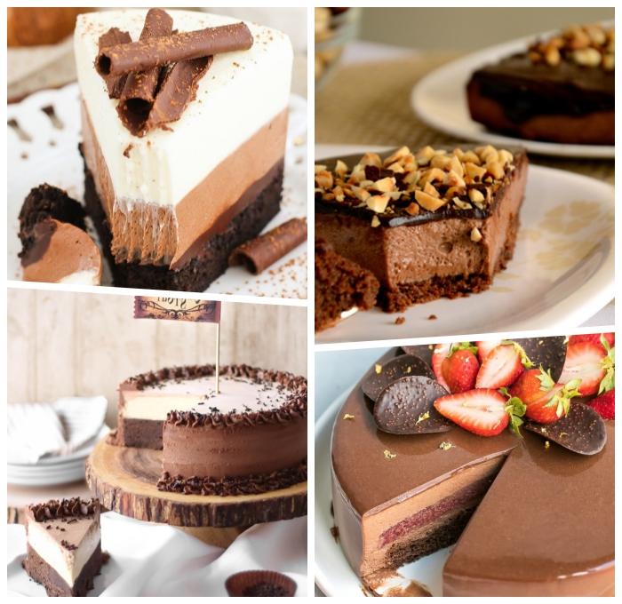 kuchen ohne backen schnell, schokokuchen rezepte, dessert mit schokolade, schokoladenkuchen ideen