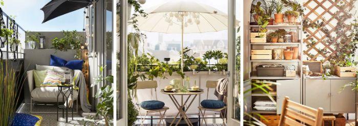 obi terrassenplaner, drei bilder ideen für moderne miimalistische deko auf der terrasse