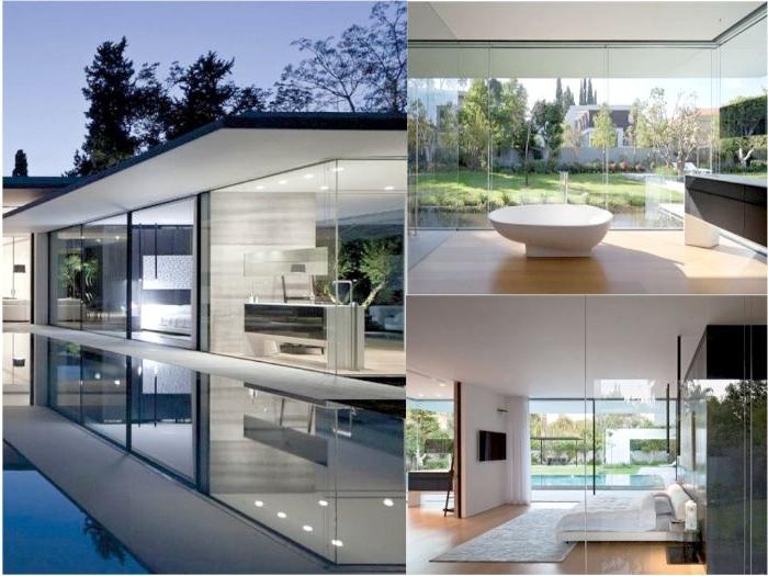 minimalistisch wohnen vorher nachher, ein collagebild mit drei seiten des selben hauses