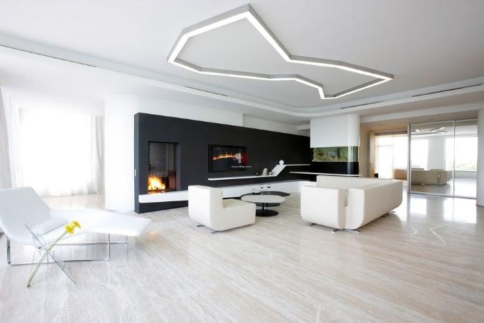 minimalistische bilder, schwarze kamin design idee, weiße möbel, graue deko