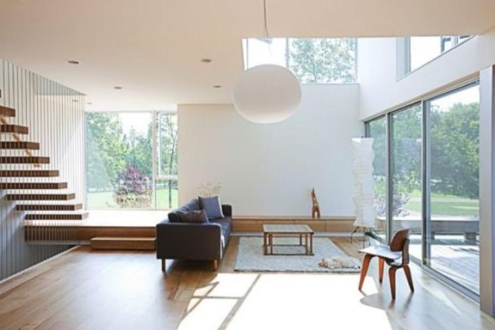 minimalistische einrichtung, moderne einrichtungsideen, dekor und interieur, treppe