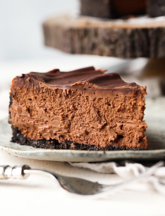 no bake kuchen, schokoladenkuchen mit escreme, keksboden und milchschokolade