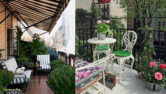 balkon verschönern, zwei ideen für den balkon, dekorationen und gestaltungsideen, weiß und grün balkon einrichten
