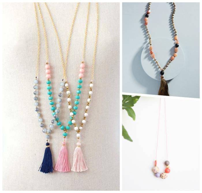diy geschenke für frauen, muttertagsgeschenk selbstgemacht, perlenketten selber machen