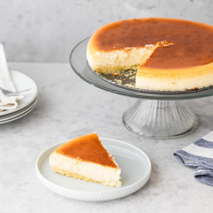 traditionelles rezept für cheesecake, philadelphia torte ohne backen, nachtisch mit frischkäse
