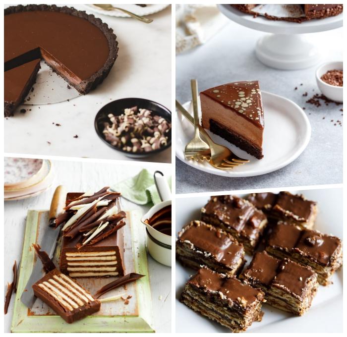 philadelphia torte rezept mit schokolade, schoko tarte, nachtisch mit keksen, schokoladentorte