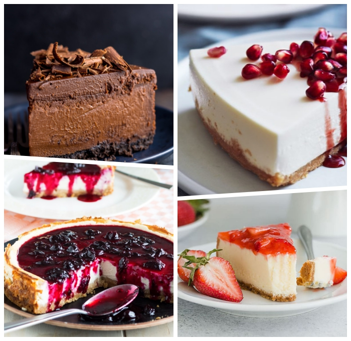 philadelphia torte rezept, kuchen mit schokolade, käsekuchen mit kirschenmarmelade, cheesecake rezepte