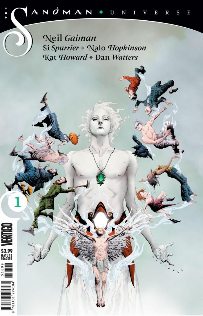 Sandman Universe, der Traum und alle anderen Helden auf dem Umschlad von Comic-Serie