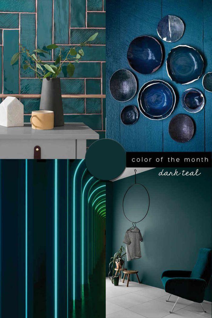 petrol farbe wohnzimmer, elemente am raum, dekorationen und interieur design ideen in petrolene nuancen