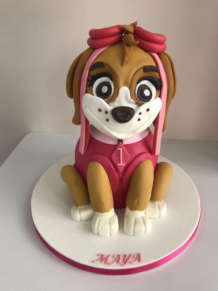 Paw Patrol Geburtstagstorte Skye für Mädchen, ausgefallene Geburtstagstorte für Kinder