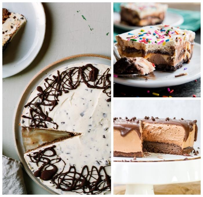 cheesecake mit schokolade, schnelle desserts, torte ohne backen rezepte, nachtisch ideen