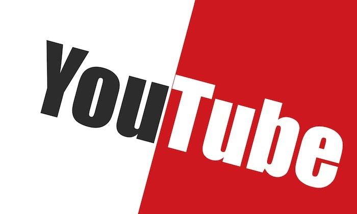 ein Aufschrift YouTube, Urheberrecht in YouTube, das Logo in einer kreativen Weise dargestellt