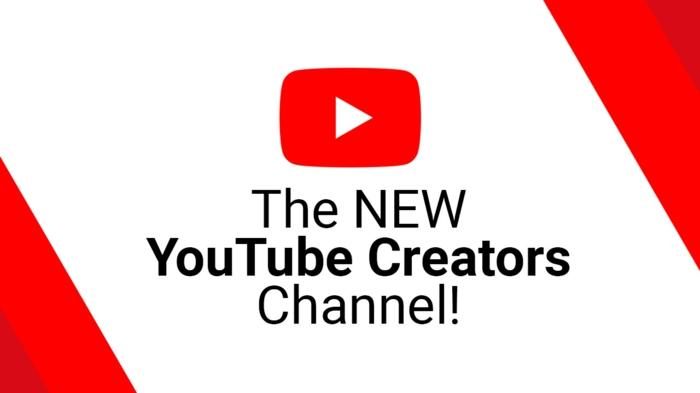 eine Werbung für Schöpfer, Urheberrecht in YouTube, rote, weiße und schwarze Farbe