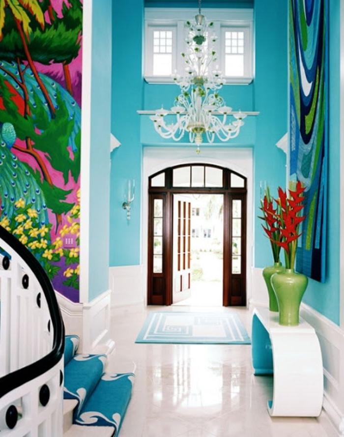 petrol farbe psychologie, die bunten dekorationen und farben and er wohnung bringen gute laune mit