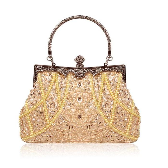 20er jahre mode, fashioninspiration, mode accessoires, eine tasche mit perlen und pailletten