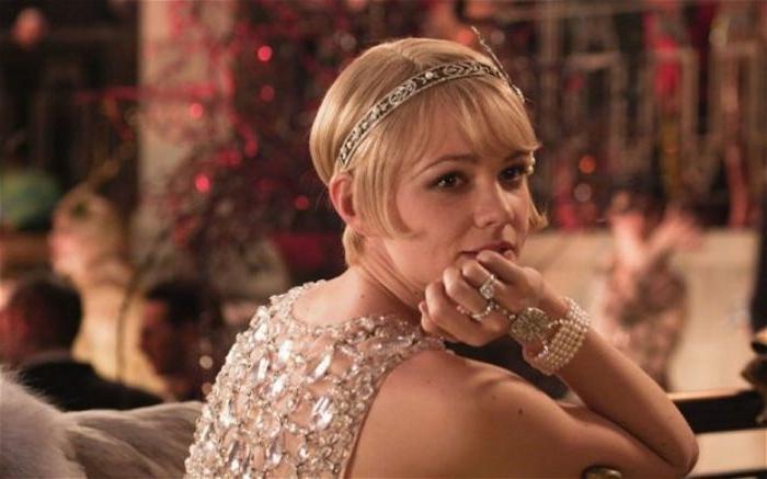 20er jahre mode frauen hose, gatsby film eine szene mit der schönen schauspielerin