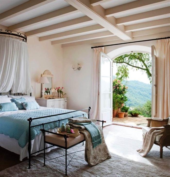 zimmer einrichten, mediterranean style, ein zimmer mit direktem ausganz in der natur, traumhafte designs