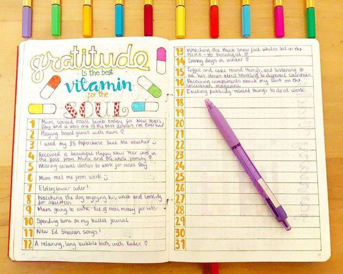 leuchtturm bullet journal, vitamine für die seele, ein heft mit den eigenen gedanken und motivierungssprüche