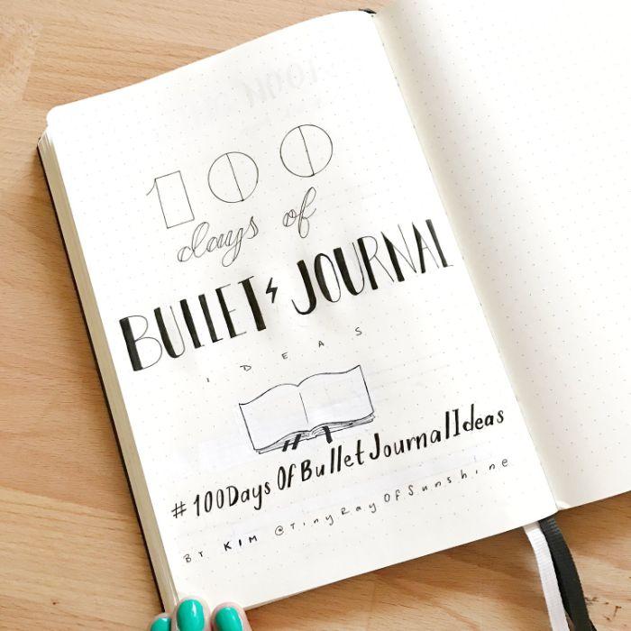 leuchtturm bullet journal, ein neues challenge, 100 tage journal führen, herausforderung für dichter und schriftsteller