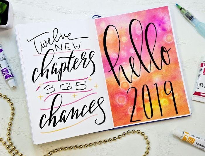 bullet journal deutsch ideen, bunter kalender, 2019 das jahr ist fast zu ende, haben sie schon einen bu jo gestartet