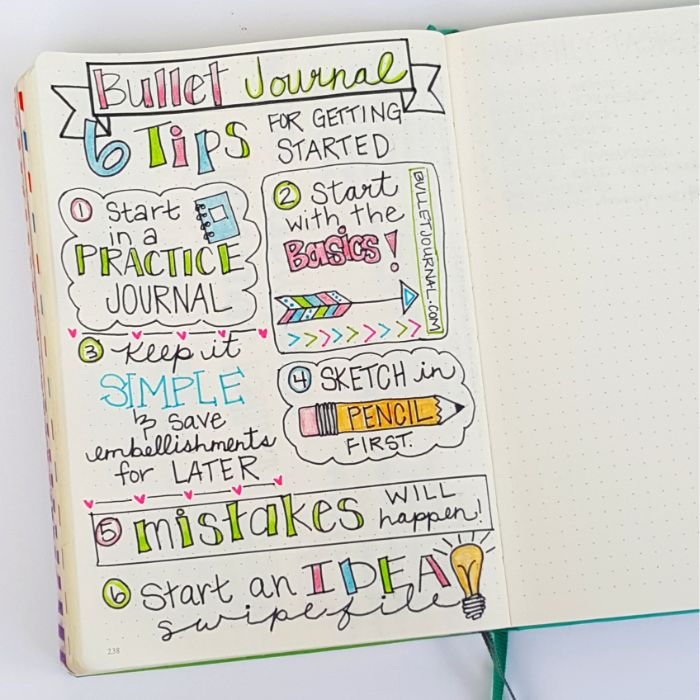 bullet journal selber machen, bu jo ideen bunte gestaltung, feile, praktikum, lassen sie sich praktizieren