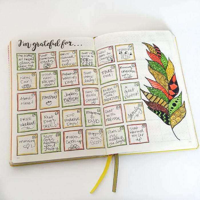 bullet journal anfänger, ein kalender mit ideen was in dem nächsten monat zu tun, herbst planen