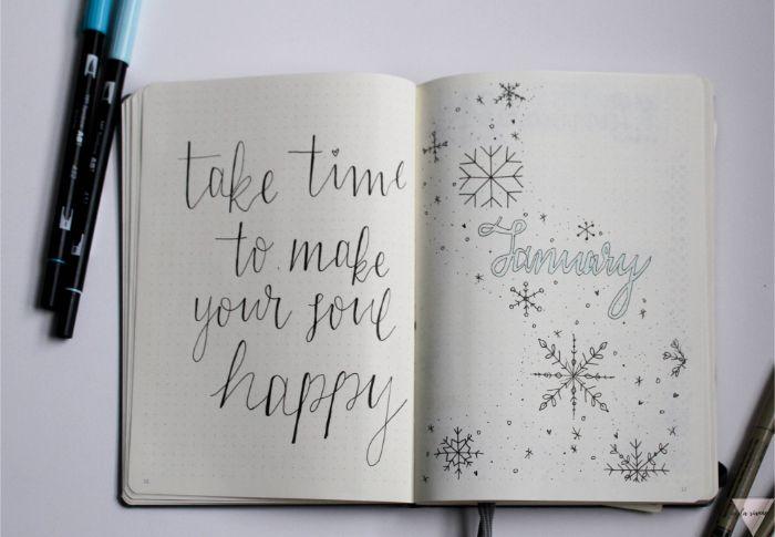 bullet journal fertig kaufen, nimm dir doch zeit deine seele zu erfreuen, motivierungsspruch