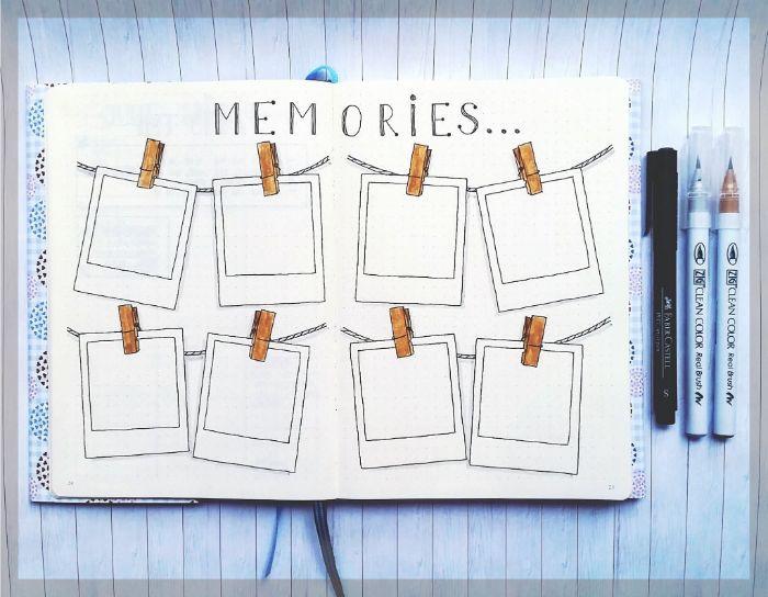 bullet journal key deutsch, erinnerungen in einem personalisierten heft aufschreiben, deko ideen