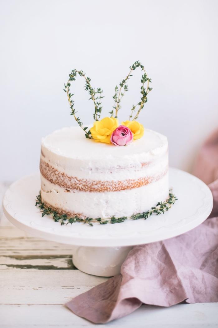 cake mit füllung, nachtisch zum ostern ideen, rote mit hasenohnren, einfacher kuchen