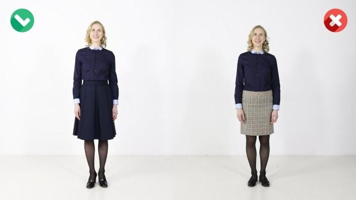 mode kataloge, vorher nachher, mode ideen für frauen, ein kleid vs rock mit hemd und pulli