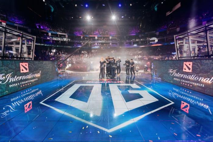 das Team drückt sich nach dem großen Sieg in Dota 2 auf The International