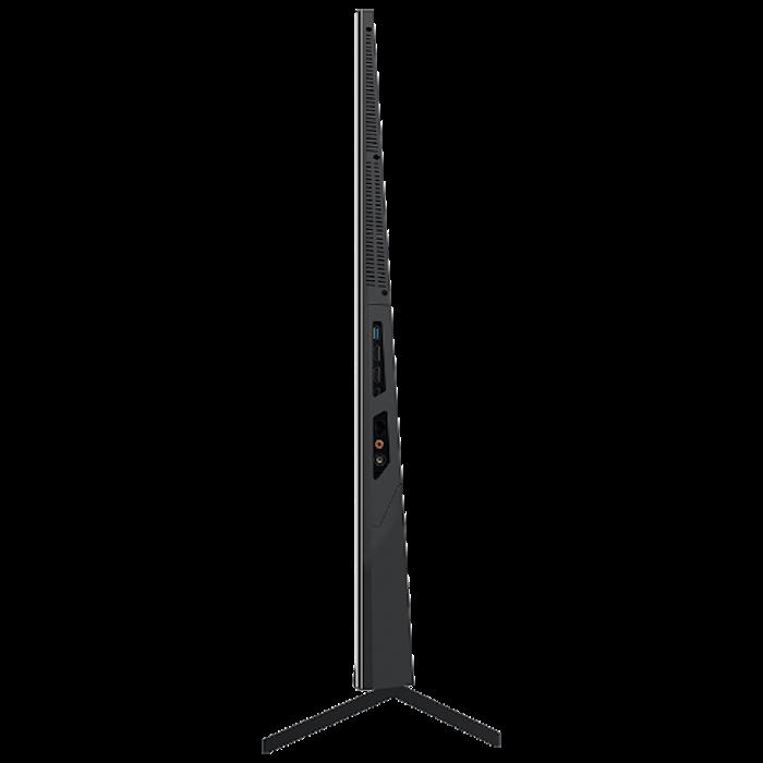 erstes gerät mit dem betriebssystem harmonyOS von Huawei, der fernseher honor vision pro, ein schwarzer tv