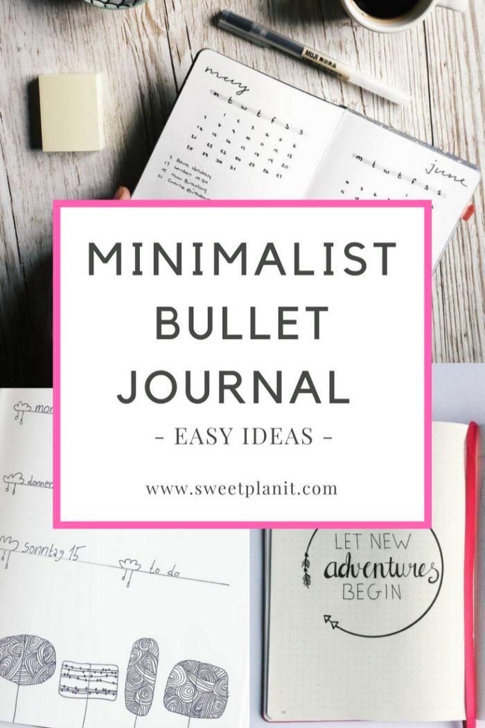 bullet journal key deutsch, minimalismus zu hause, deko ideen für den heft, tagebuch vorlage