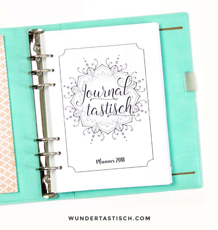 bullet journal key deutsch, ein schönes heft mit mandala deko auf der ersten seite