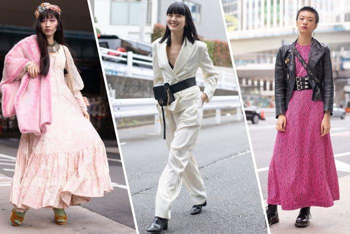 alternative kleidung, drei outfit ideen für frauen, die gern rosarot tragen oder weiße jumpsuits, rosa kleid