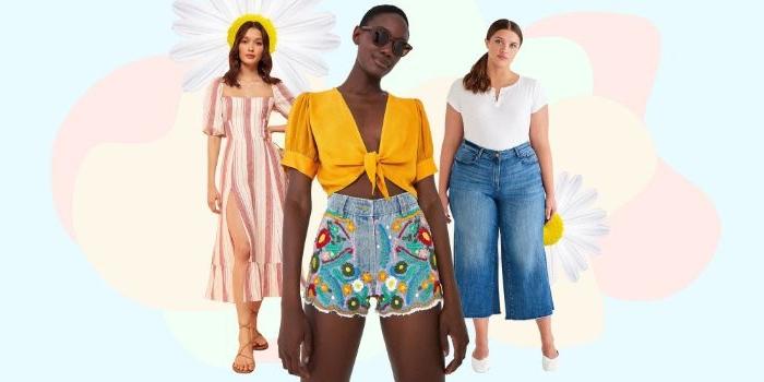 alternative kleidung, drei outfit ideen, casual style für den sommer mit faire kleidung