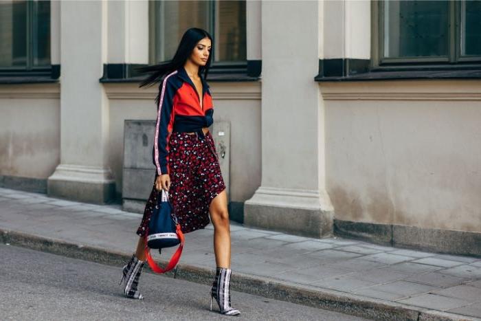 dänische mode große größen für dünne damen, bequeme und lässige sommermode, hemd mit rock und absatzschuhe, elegant sportlich