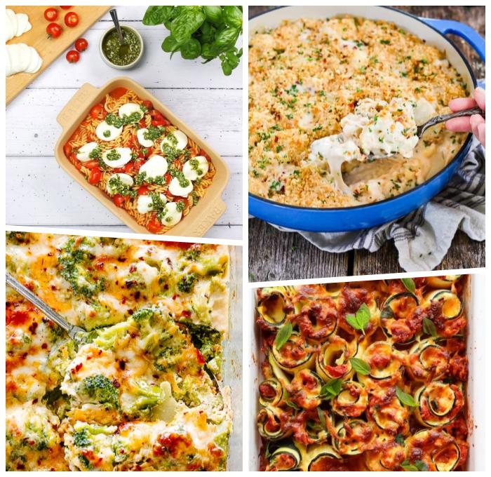gesunde vegetarische rezepte ideen, pasta mit eiern und tomaten, schnelles mittagessen