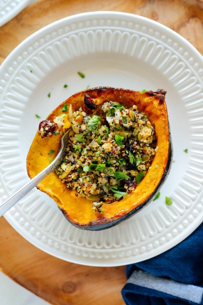 gesunde vegetarische rezepte, essen für gäste, gerichte ohne fleisch, quinoa