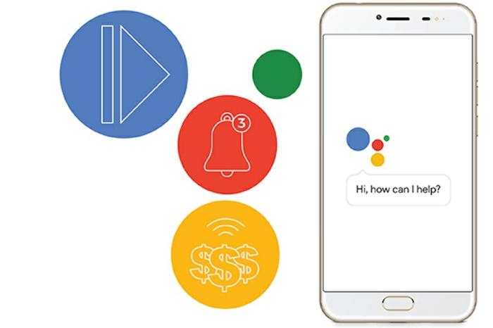 das Zeichen von Google Assistant mit seinen Funktionen inbegriffen, Google Assistent liest
